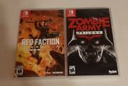 Red Faction Guerrilla Remarstered And Zombie Army Trilogy Switch