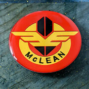 Red And Yellow Mclean Wire Wheel Chips Emblems Decals Set Of 4 Size 2.75in