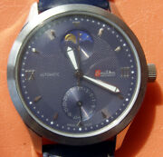 Swiss Automatic Omikron Moonphase Almost New Limited Edition Vintage Wristwatch