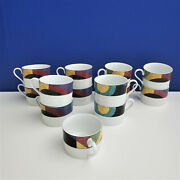 13 Mikasa California Currents Coffee Cups M 5101.free Shipping