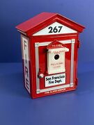Vtg 1999 First Gear San Francisco Fire Department Pull Handle Fire Alarm Bank