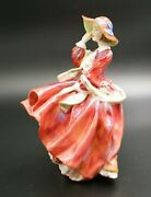 Vintage Royal Doulton Top O The Hill Lady Figurine Hn 1834
