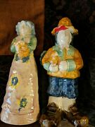 Marry Thanksgiving Day Figurines Vintage 13 Tall.