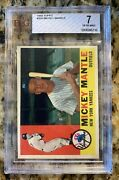 1960 Topps 350 Mickey Mantle Psa 7 Great Looking Card