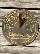Vintage Bronze Adley Express Trucking Co. Advertising Sundial Paperweight