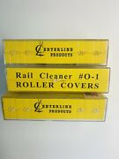 Centerline Products Rail Cleaner O-1 Roller Covers O Scale Lot Of 3 Boxes 18 Pad