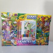 Crayola Giant Coloring Page Markers And Crayons Box Carrying Case 80 Piece Set