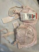 Pink B70/32b Made In Japan And White B75/34b Bras With Tag Brand Triumph