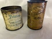 Very Early Socony Standard Oil Cans Lot. Polarine-harness Oil