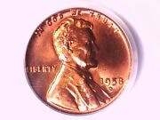 1958 D Lincoln Wheat Cent 1c Penny Pcgs Ms 66 Rd 7871500