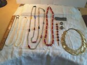 Vintage And Retro Necklaces, Chockers, Bracelets, Clip On Earrings, Lot Of 8