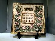 Domar Art Israel High Priest Breast Plate Square Ceramic Plate 12 Tribes Amazing