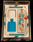 2020-21 National Treasures Lamelo Ball Rookie Material Dual Patch Rc Andrsquod 53/99