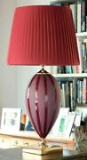 Table Lamp In Majolica Italian Ceramics Decorated With Leaf D'oro 24 K-swiss