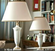 Table Lamp In Majolica Italian Decorated With Leaf D'oro Cert