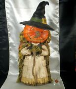 Bethany Lowe Halloween Into The Woods Witch Pumpkin