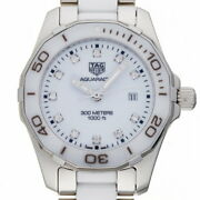 Tag Heuer Aquaracer Diamond Ladies Watch Way141d Stainless Steel White Dial