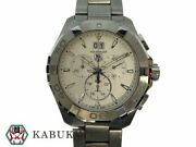 Tagheuer Aqua Racer Watch Chronograph Quartz Date Display Used From Japan