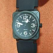 Bell And Ross Br03-92-s-22050 Used Watch Date Display Military Spec Automatic
