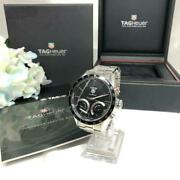 Tag Heuer Carrera Cv7a12 Used Watch Qz Excellent Condition