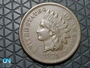 1874 Indian Head Cent Penny -- Make Us An Offer K6549