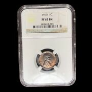 1910 Matte Proof Ngc Pr-63 Brown Lincoln Cent Wheat Penny W9085