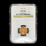 1911 Matte Proof Ngc Pf-62 Lincoln Cent Wheat Penny W9001