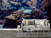 3d Coral Underwater World Self-adhesive Removable Wallpaper Murals Wall 460