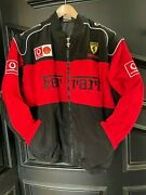 Brand New Ferrari Factory Racing Bomber Jacket. Size Xl. Free Shipping In Usa.