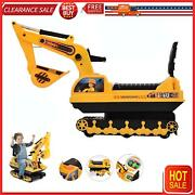 Ride On Excavator Toy Tractors Digger Movable Scooter Walker Toddler Truck