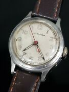 Rare Longines Wwii Military Stainless Mens Vintage Manual Watch Cal.12.68n Works