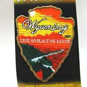 Patch - Wyoming - Arrowhead With Sunset Nature Scene - Embroidered - Collectible