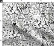 Occult Gothic Black White Sun Moon Alchemy Spoonflower Fabric By The Yard