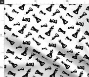 Chess Board Game Chess Pieces Chess Piece Game Spoonflower Fabric By The Yard