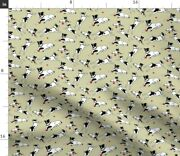 Dog Horse Child Girl Boy Terrier Jack Russell Spoonflower Fabric By The Yard