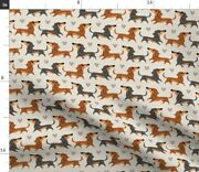 Dachshund Puppies Dog Breeds Pet Owner Animal Spoonflower Fabric By The Yard