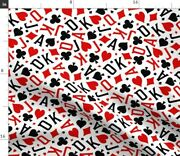 Game Tossed Ace Cards Royalty Card Game Poker Spoonflower Fabric By The Yard