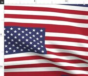 United States America Flag Large State Flags Usa Spoonflower Fabric By The Yard