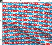 Usa Red White And Blue Vote Election Politics Spoonflower Fabric By The Yard