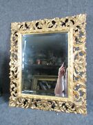 Antique Italian Hand Carved And Gold Gilt Painting Mirror Frame Fits 14x11 Inch