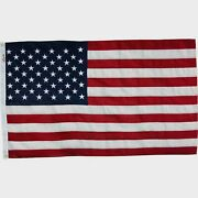 Valley Forge 3and039 X 5and039 American Flag Sewn Cotton Flag With Brass Grommets Usa