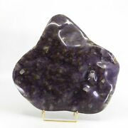 Fluorite Over Barite 9 Inch 10.6 Lb Polished Freeform Crystal - China