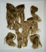 Seven Piece Hair Extension Dark Blonde / Lt Brown One Halo 6 Clips Vintage Used