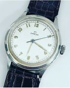 Rare Omega Ref 2179 Cal 30t2 Sc Mens Vintage Military Wwii 35mm Watch Works Nice