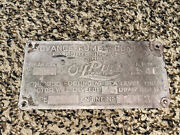Old Rumely Oil Pull Oilpull Lightweight Type R Original Tractor Tag Rare