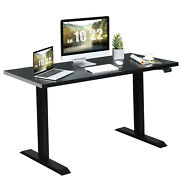 Costway Adjustable Standing Workstation 48 Electric Sit To Stand Desk W/control