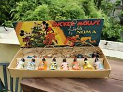 Old Vintage 1930and039s Mickey Mouse Christmas Lights By Noma In Original Box