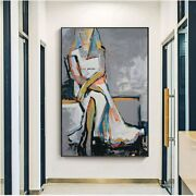 Hand Painted Modern Abstract Figures Art Picasso Body Nude Wall Canvas Oil Paint
