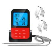 Wireless Meat Thermometer Oven Smoker Bbq Grill Remote Digital Food Steak Probe