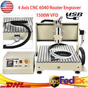 4 Axis Engraver Usb Cnc 6040 Router 1500w Pcb Engraving Drilling Milling Machine